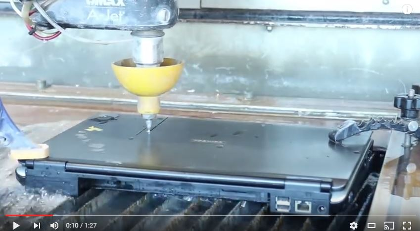 wanter jet cutting in action