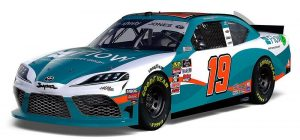 Nascar car sponsored by water jet cutting